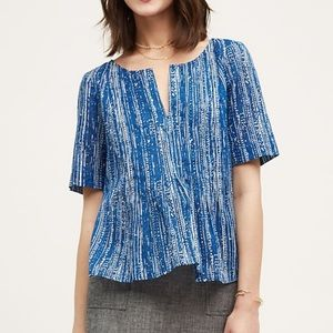 Anthropologie Maeve orchid island top